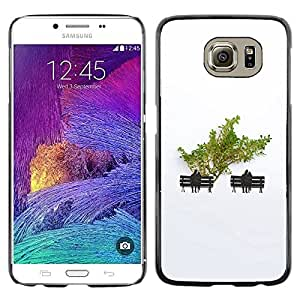 LECELL--Funda protectora / Cubierta / Piel For Samsung Galaxy S6 SM-G920 -- Minimalist Tree Love Couple --