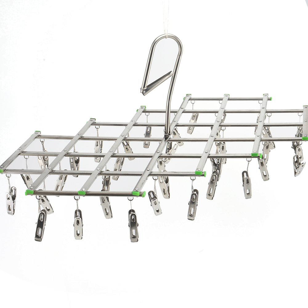 MultiWare Clothes Airer Dryer 35 Pegs Drying Hanger Hanging Laundry Washing Indoor Outdoor oem