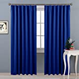 NICETOWN遮光カーテン 2枚セット ローヤルブルー 目隠し UVカット ブラインド 幅100cm丈178cm