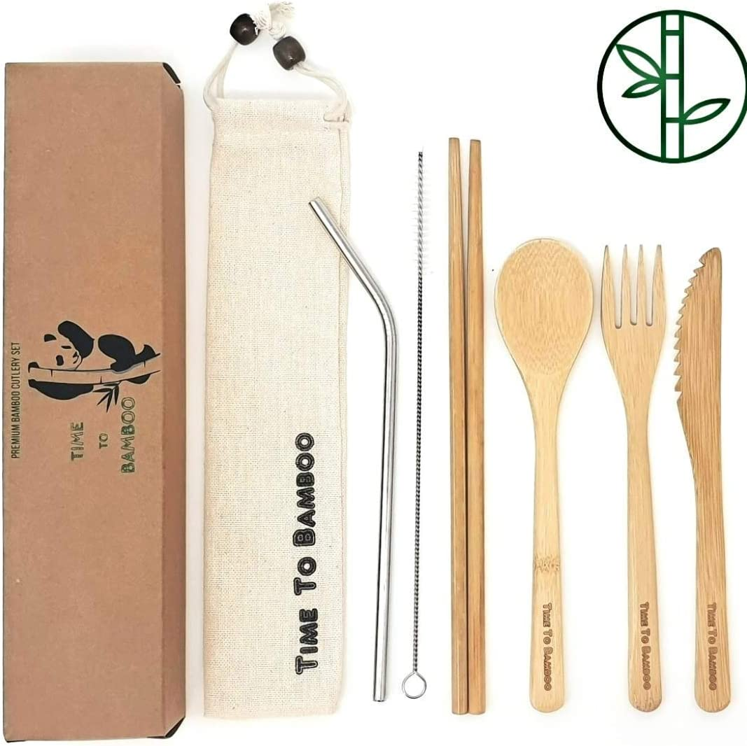 Bamboo Cutlery Set| Reusable Travel Cutlery Set