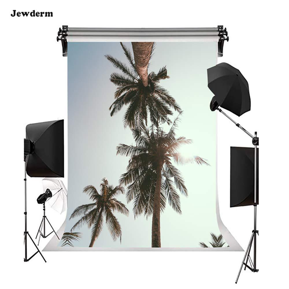 Jewderm 6x9フィート ココナッツツリー 写真背景 ビンテージ ビーチ 太陽の光 写真 背景 旅行 イベント ビデオ ホリデー 小道具   B07MK5ZS3R
