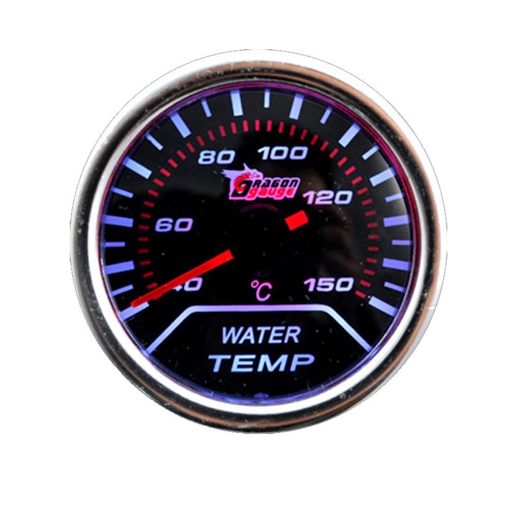 Supmico 52mm Wei/ß LED Licht Kfz Auto Universal Drehzahlmesser Anzeige Instrument RPM Gauge Rauchfarbe Len Messger/ät