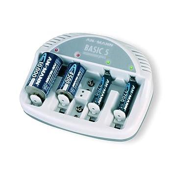 Ansmann Cargador de Pilas Basic 5 Plus Recargador Batería ...