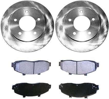 Auto Shack RSMK65095-65095-1160-2-4 Front Brake Rotors and Semi Metallic Pads