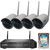 ULSTRA Kit 4 cámaras de Seguridad WiFi con 500GB No Necesita Cables Circuito Cerrado Ver en Celular o PC Sistema de Seguridad