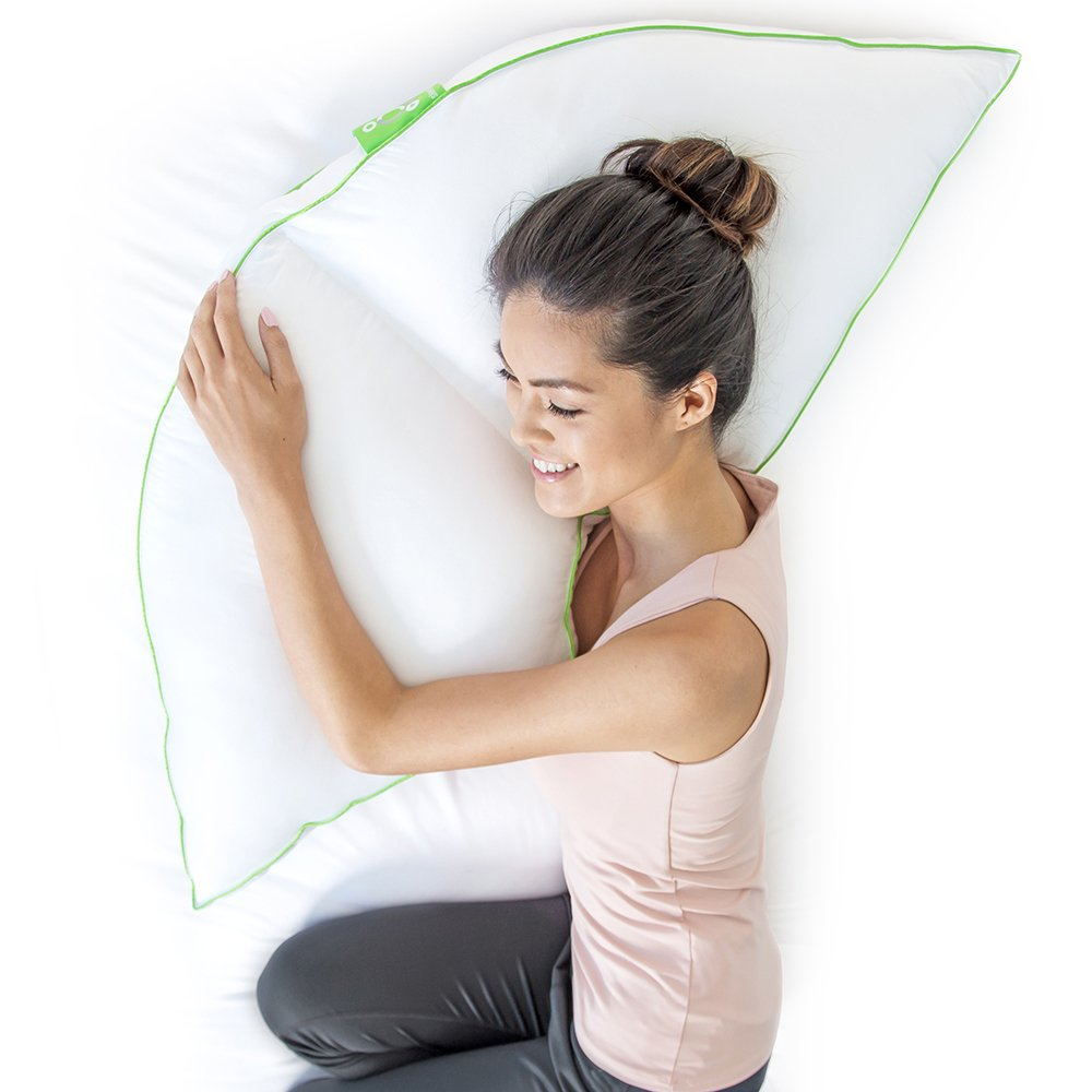 Sleep Yoga Side Sleeper Pillow with Arm Support, 15'' x 30''/One Size, White