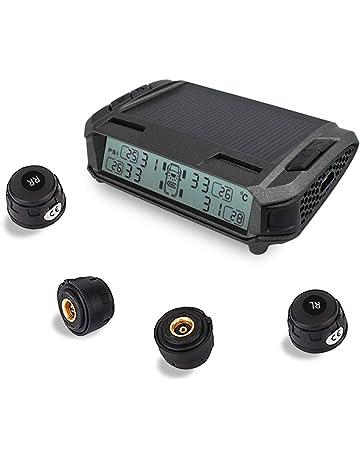 Deewaz Solar TPMS Wireless, Tire Pressure Monitoring System with 4 External Sensors, Universal LCD