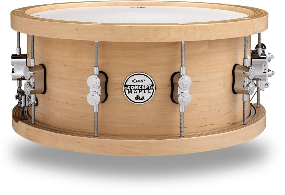 PDP 20-Ply Maple Snare with Wood Hoops and Chrome Hardware 14 x 5.5 in. by PDP by DW