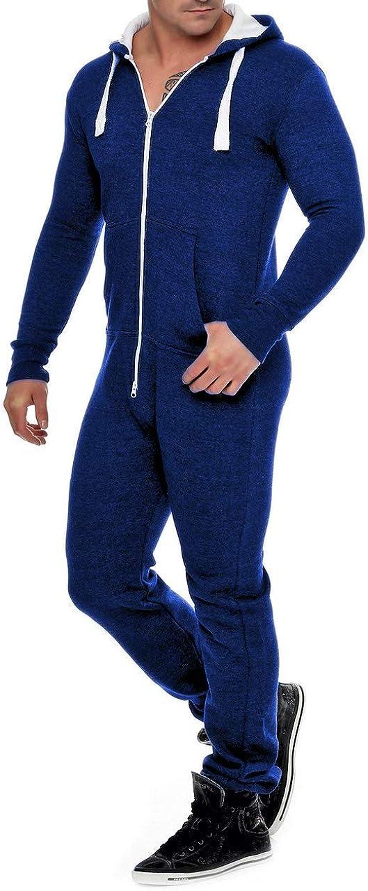 traje de ch/ándal para hombre con capucha Mono de forro polar para hombre bonito y elegante ropa de dormir