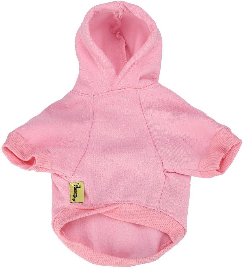 Kapuzenpullover f/ür Hunde Kleidung f/ür Haustiere Warmes Sweatshirt Pullover Zimuuy Haustier Kost/üm Mantel f/ür Hunde