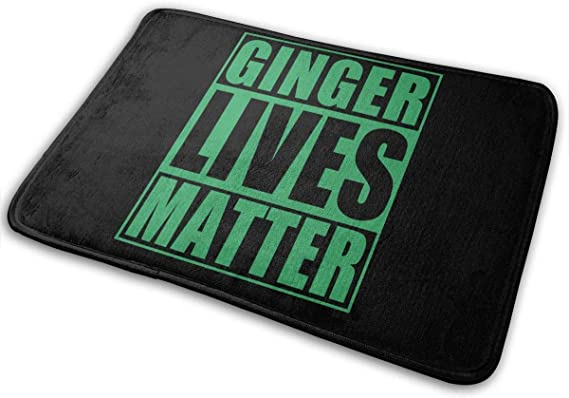 "Imagen deBLSYP Felpudo St Patricks Day Ginger Lives Matter Doormat Anti-Slip House Garden Gate Carpet Door Mat Floor Pads 15.8"" X 23.6"""