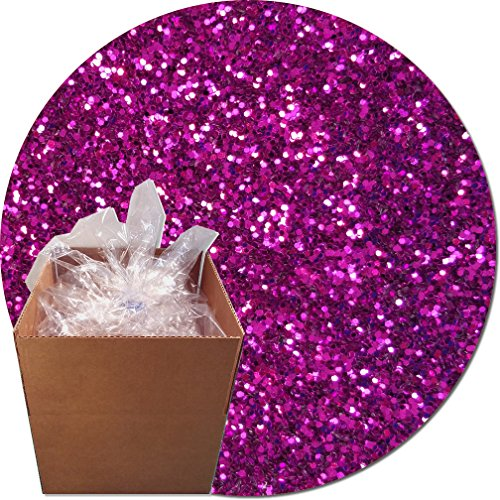 Glitter My World! Craft Glitter: 25lb Box: Magenta Magic by Glitter My World!