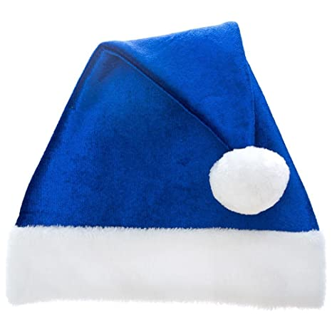 Amazon.com  Century Novelty Classic Blue Santa Hat  Sports   Outdoors 79158b47f3bd