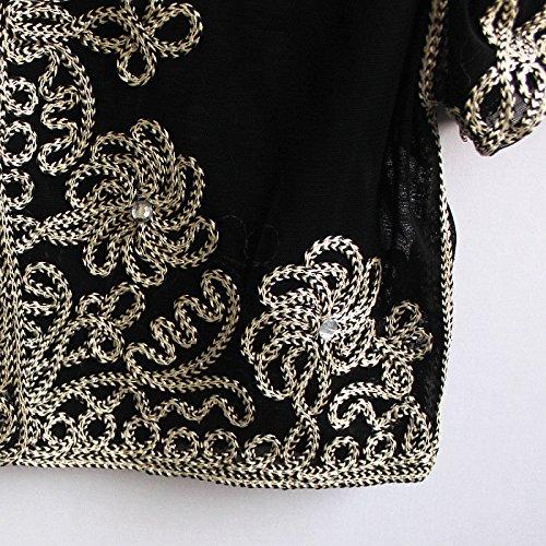 Laisla Mode Donna Estive Filato Cocktail Fashion Cardigan Manica Bolerino Elegante Pizzo Netto Abbigliamento Per Giovane Party Albicocca Festa Top Bolero Corta Di q75BqrAx4w