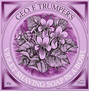 Geo F. Trumper Violet Hard Shaving Soap in Wooden Bowl