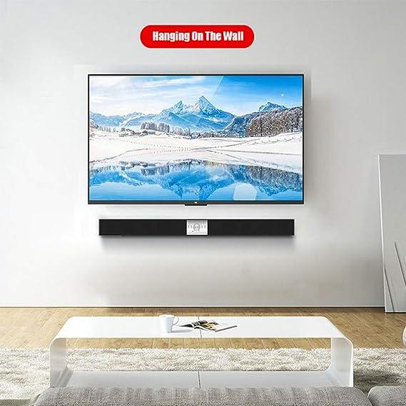 WHCCL Barra de Sonido, Altavoces Bluetooth portátiles de Dos Altavoces, Puede Colgar en la Pared, para TV, PC, teléfono Celular, tabletas, proyector: Amazon.es: Hogar