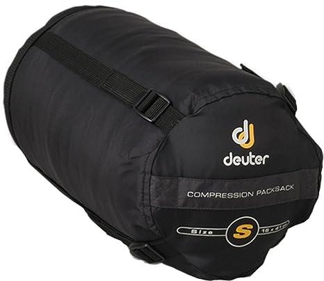 Deuter Compression Packsack S - Saco de dormir momia para acampada, color negro