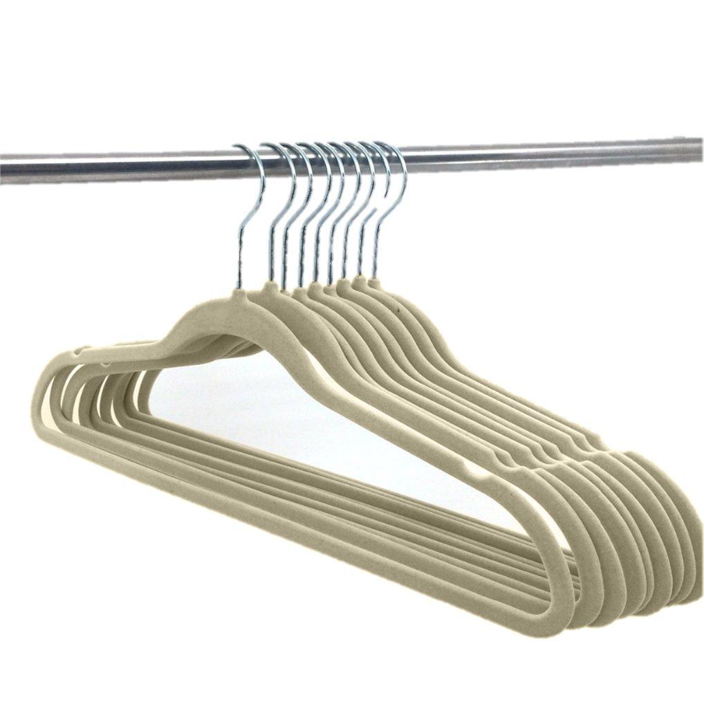 PURPLE Deluxe Designer Non Slip Heavy Duty Velvet Hangers 10pk ELAINE KAREN
