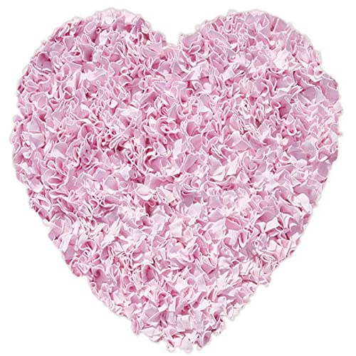 The Rug Market Shaggy Raggy Heart Pink Area RugSize 3x3 HEART