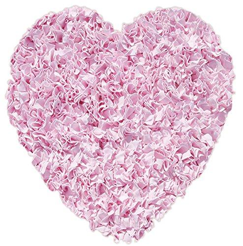 (The Rug Market Shaggy Raggy Heart Pink Area Rug  Size 3'x3' HEART)