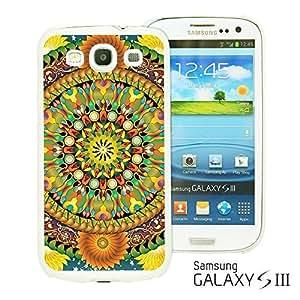 OnlineBestDigital - Flower Pattern Hardback Case for Samsung Galaxy S3 III I9300 - Mandala Floral Pattern