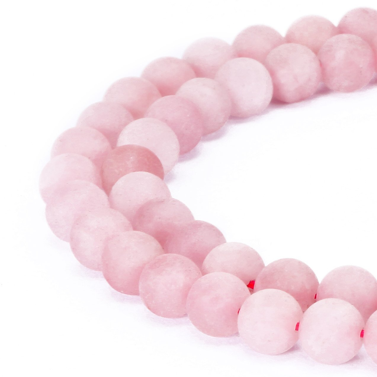 Gorgeous Natural Fushia Drusy Agate Gemstone Matte Round Loose Beads For Jewelry Making Ruilong