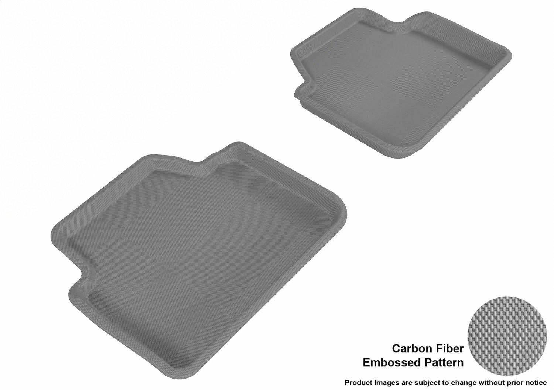 Models Kagu Rubber E83 3D MAXpider Second Row Custom Fit All-Weather Floor Mat for Select BMW 3 Series Sedan L1BM00621501 E90 // X3 Gray
