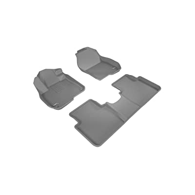 3D MAXpider Complete Set Custom Fit All-Weather Floor Mat For Select Honda CR-V Models - Kagu Rubber (Gray): Automotive