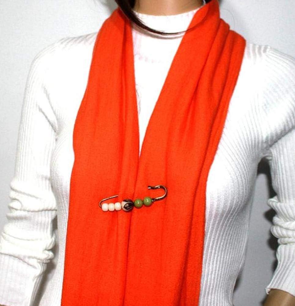 broche con hebilla para bufanda adorno de bricolaje 50mm//2inch X 6 pines de seguridad de aleaci/ón de colores al azar accesorios de bricolaje para ropa
