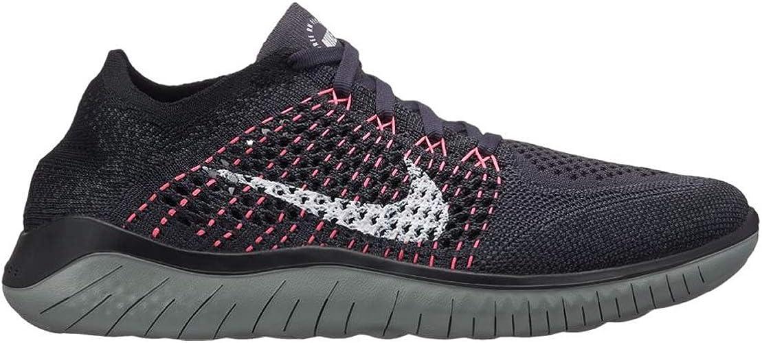 Nike WmnsFree RN Flyknit 2018, Zapatillas para Mujer, Multicolor (Gridiron/White/Black/Mica Green 001), 39 EU: Amazon.es: Zapatos y complementos