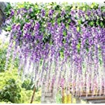 40-Long-Artificail-Silk-Purple-Wisteria-Flower-Vine-Wedding-Home-Plant-Decor-Set-of-10