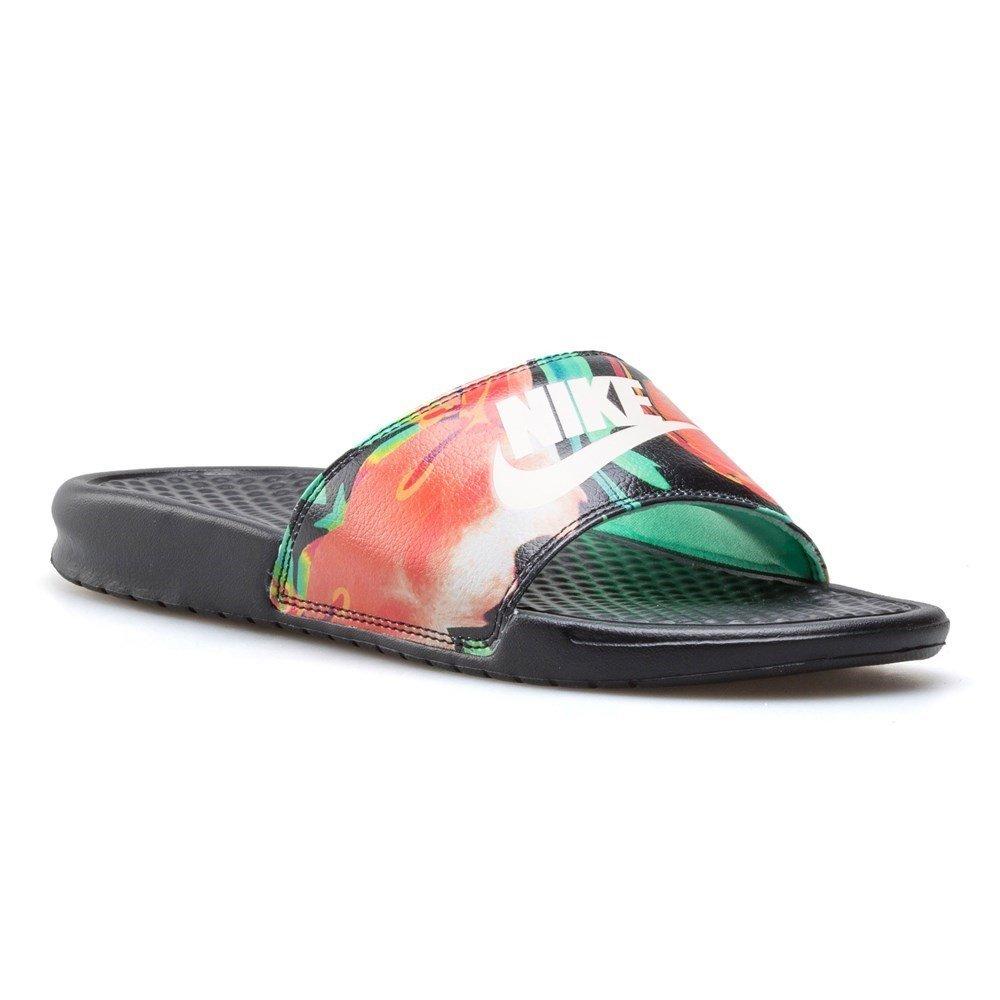 san francisco db02b ee1ba Galleon - Nike Womens Benassi JDI Print Sandals Black Crimson Tint Green  Glow 618919-019 (8 B(M) US)