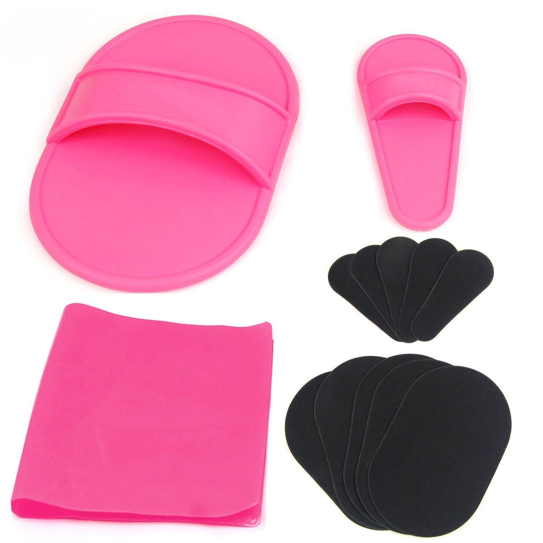 Facile da usare Set di cuscinetti per rimozione dei peli esfolianti Kit di cuscinetti per esfolianti per rimozione dei peli del viso (Colore : Black) ShireyStore