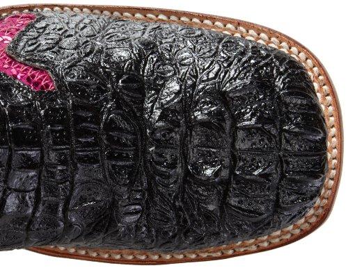 Black Boot Women's Crocodile Print Toe Pink Western Ferrini S Cross q0YT0v