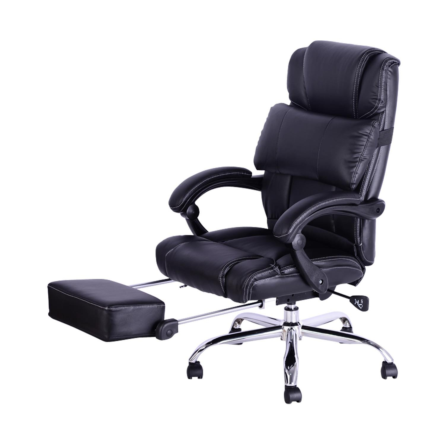 office recliner chair. HOMCOM Luxury Executive Reclining Office Chair W/ Footrest - Black: Amazon.ca: Home \u0026 Kitchen Recliner