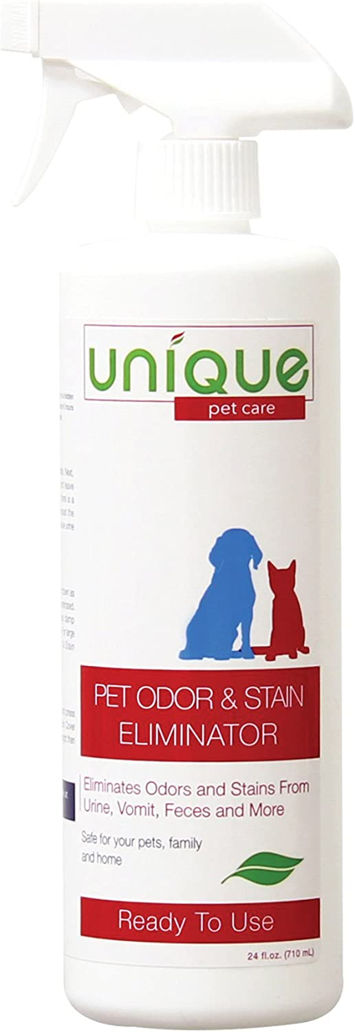 Unique Pet Odor and Stain Eliminator | Removes Old and New Stains | Eliminates Odors and Stains From Urine, Vomit, Feces and More | Safe and Ecofriendly