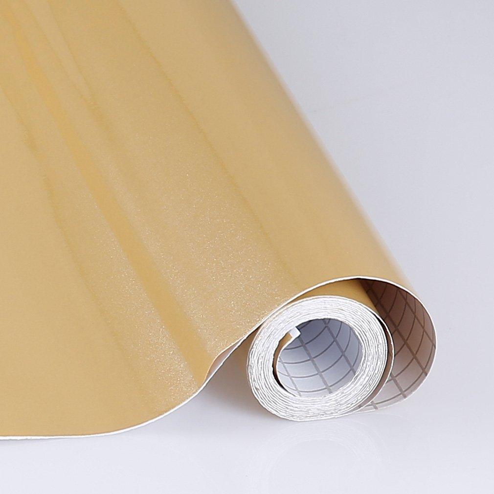 KINLO Adesivi carta per mobili 0.6M*5M/(1 Rotolo/) Verde Nessuna colla