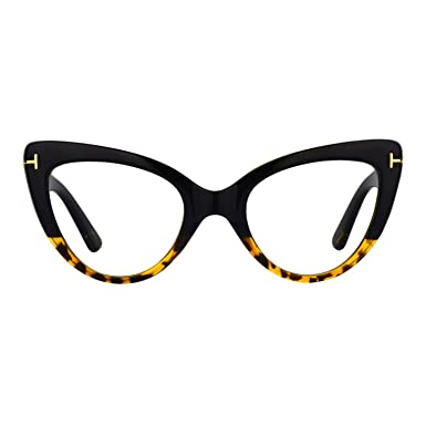 bea5b2a20439a Image Unavailable. Image not available for. Color  Zeelool Women s Super Vintage  Cat Eye Glasses Kristin FP0330-01 Tortoise