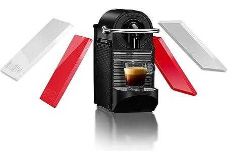 Nespresso DeLonghi Pixie Clips EN126 - Cafetera monodosis de cápsulas Nespresso, 19 bares, apagado automático, colores intercambiables rojo y blanco