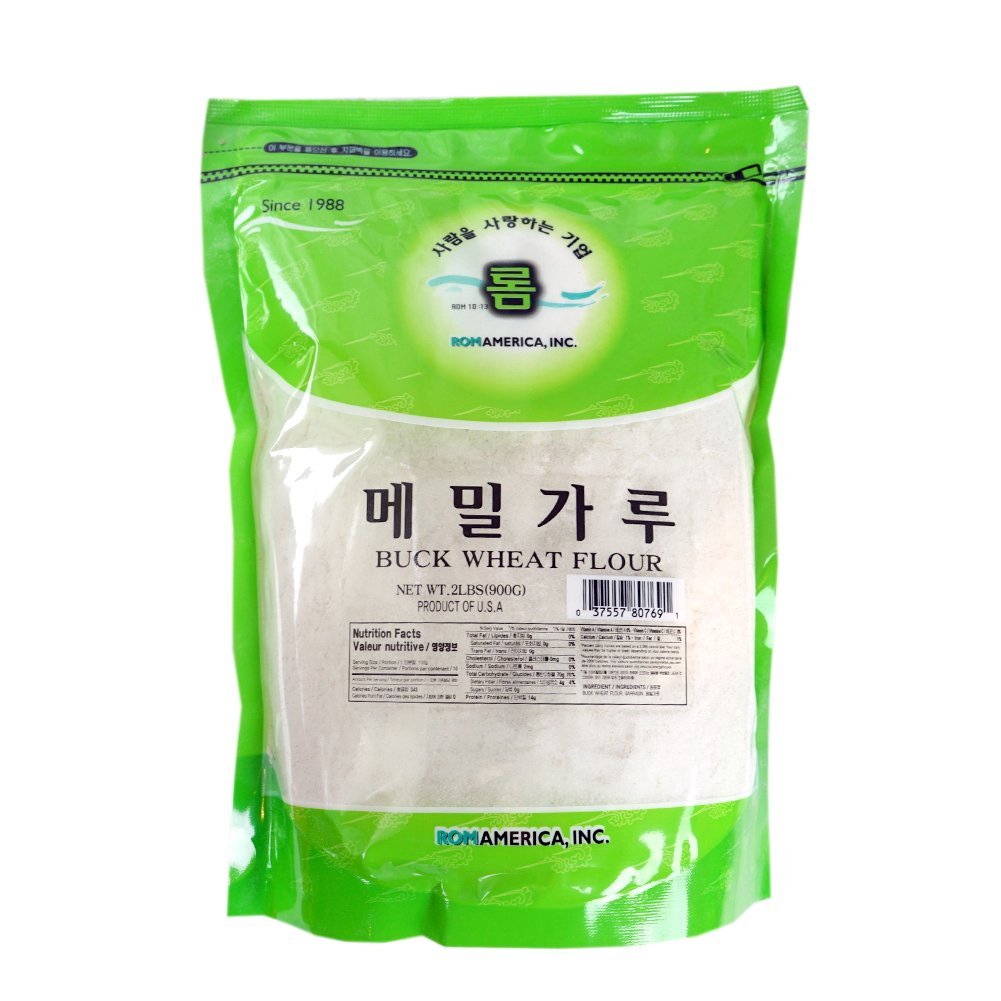 ROM AMERICA [ 2 Pound ] Buckwheat Flour Powder Stone Ground 메밀가루