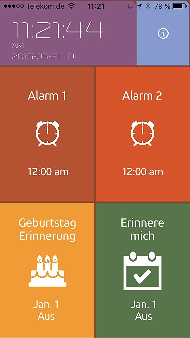 Infactory - Reloj Despertador Digital: LCD de Despertador ...