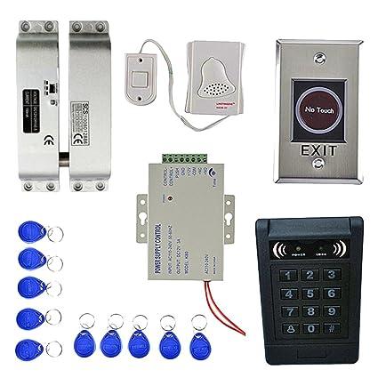 D DOLITY Timbre de Puerta Cerradura con 10 teclas RFID 1000 usuarios Huella digital Tarjeta EM