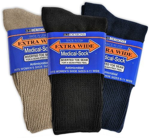 Extra-Wide Medical (Diabetic) Socks for Women (Variety)