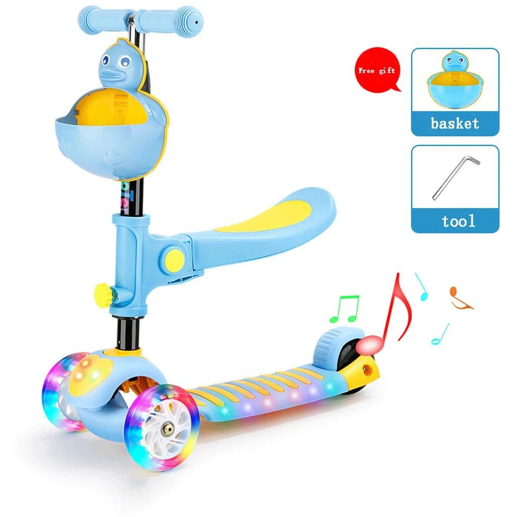 A Lernspielzeug 1 Little Kids Tretroller mit 3 Rädern - mit LED-Leuchträdern 05.27 (Farbe   A)