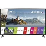 "LG 49"" Super UHD 4K HDR Smart LED TV 2017 Model (49UJ6300) with 2 x 6ft High Speed HDMI Cable, Transformer Tap USB, Universal Screen Cleaner for LED TVs & 1 Year Extended Warranty for Products"