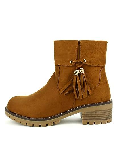 406b943479e0ab Cendriyon, Bottines Caramels ML Shoes Chaussures Femme: Amazon.fr:  Chaussures et Sacs