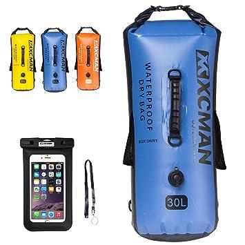 xcman impermeable bolsa seco bolsa Bonus para paseos en bote, Camping y Kayak – seca