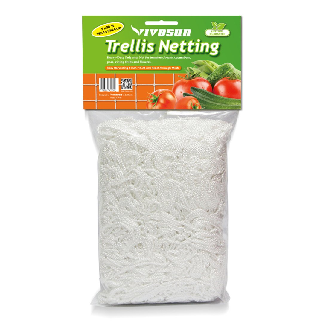 VIVOSUN 5 x 30ft Heavy-duty Polyester Plant Trellis Netting 1 Pack