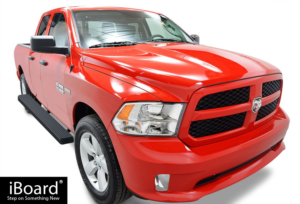 Compatible with 2009-2018 Ram 1500 Crew Cab Pickup 4Dr /& 2010-2019 Ram 2500 3500 APS iBoard Running Boards Nerf Bars Side Steps Step Bars Silver 4 inches