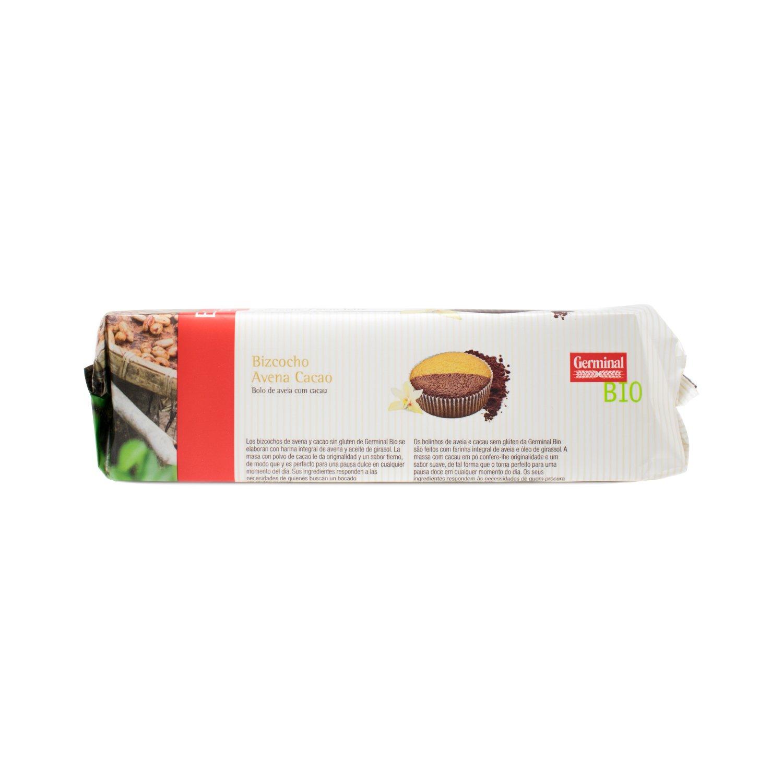 Germinal Bizcocho de Avena Cacao Sin Gluten - Paquete de 12 x 180 gr - Total: 2160 gr: Amazon.es: Alimentación y bebidas